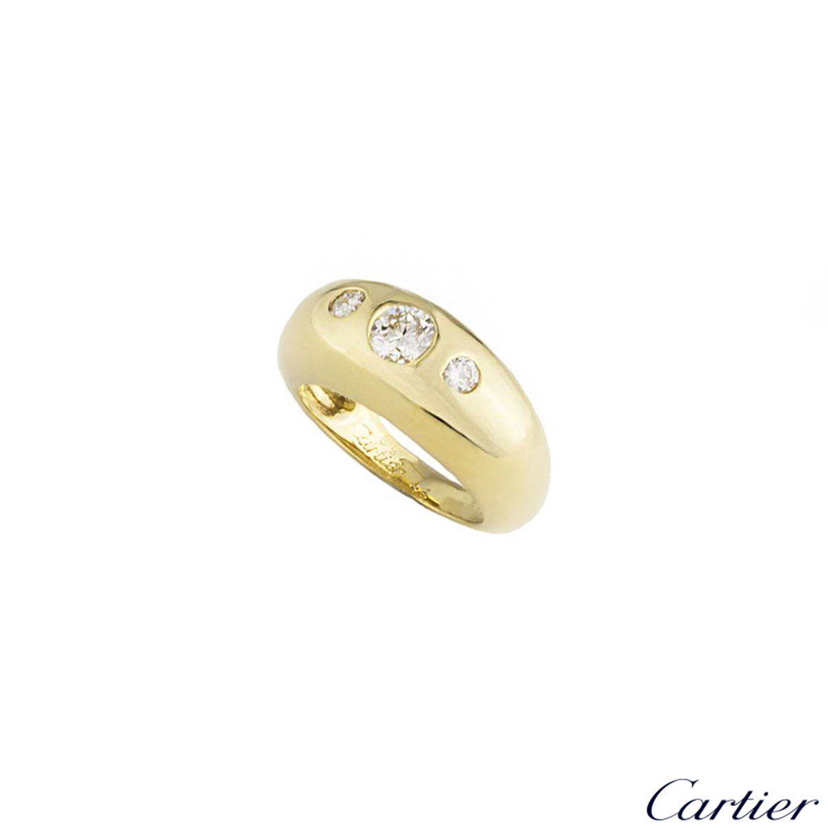Cartier 18k Yellow Gold Diamond Set Dress Ring